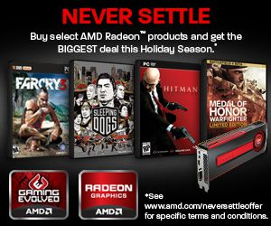 amd never settle footer banner